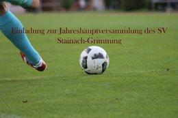 Jahreshauptversammlung des SV Stainach-Grimming